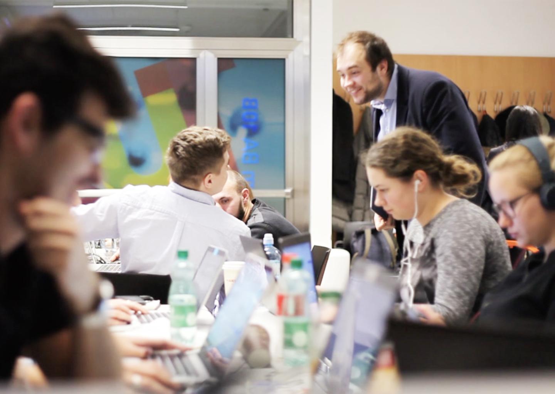 Designing class at Vienna University of Technology.